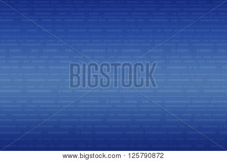 Computer binary code on light blue background