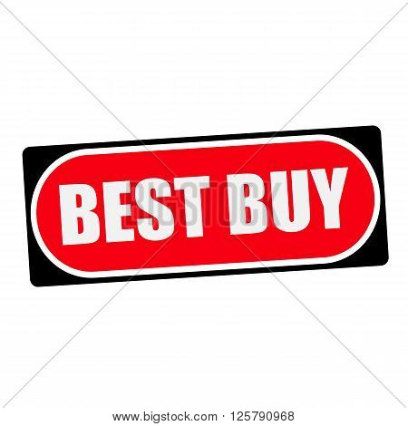 best buy white wording on red background black frame
