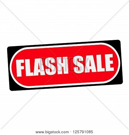 flash sale white wording on red background black frame