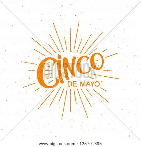 Cinco de Mayo vector illustration. 5 of May holiday vector. Cinco de Mayo holiday banner.  Cinco de Mayo holiday lettering. Cinco de Mayo handwritten illustration