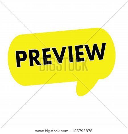 Preview wording on Speech bubbles yellow rectangular