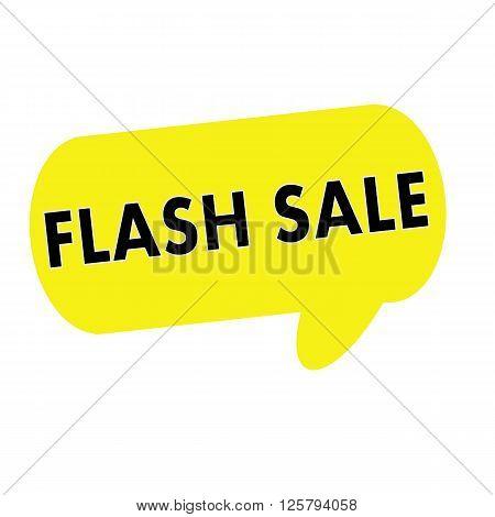 Flash sale wording on Speech bubbles yellow rectangular