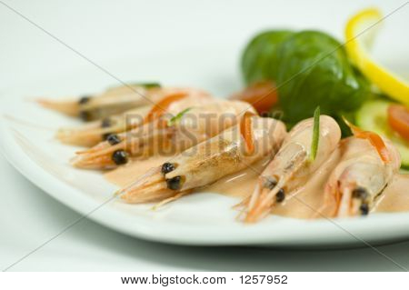 Close-Up Picture Of Some Shrimp