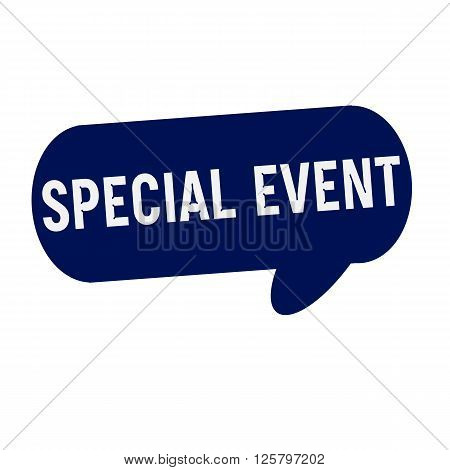 SPECIAL EVENT wording on Speech bubbles blue cylinder