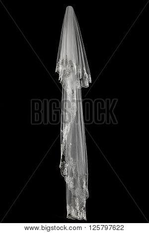 Veil On Black Background