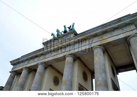 View on Brandenburg gate at summer Berlin Germany