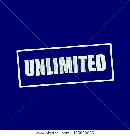 unlimited white wording on rectangle blue-black background