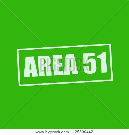 Area 51 white wording on rectangle green background