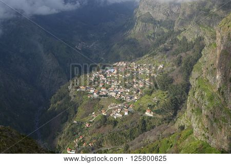 View down into the Nun's Valley in Madeira Portugal ** Note: Soft Focus at 100%, best at smaller sizes