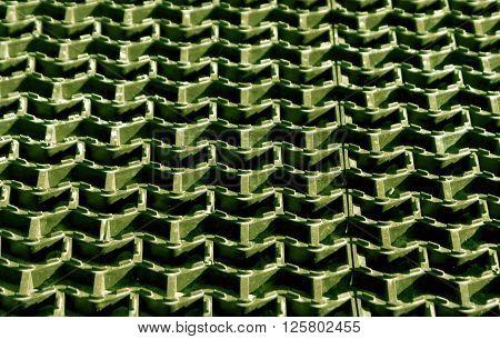 Plastic Green Floor Cover Texture.