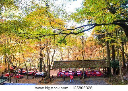 Kyoto, Japan - Nov 16, 2013: A Pavilion At Jingo-ji, Japan. Jingo-ji, Japan Is One Of The Closest Na