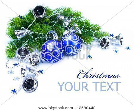 Christmas Corner design over white