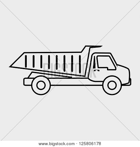 dump truck design, vector illustration eps10 graphic
