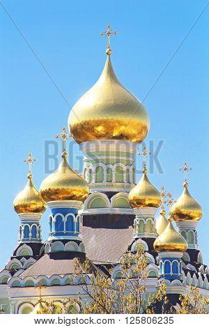 St. Nicholas Cathedral in Pokrovsky Monastery in Kyiv, Ukraine
