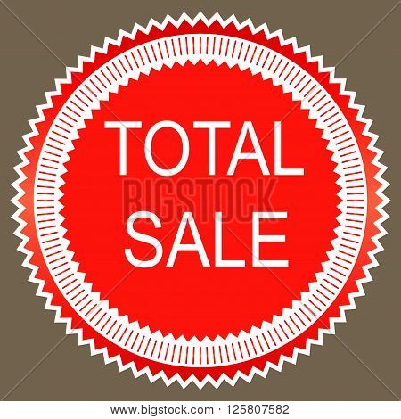 Total sale sign icon. Special offer symbol. Vector