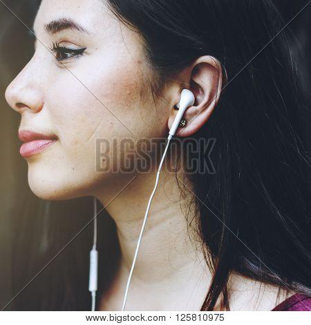 Earphones Headphone Audio Gadget Music Media Concept