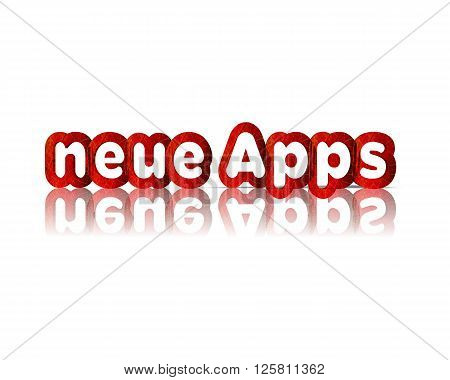 neue app -  3d word with reflection !