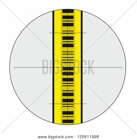 Vector illustration of staff gauge on white background
