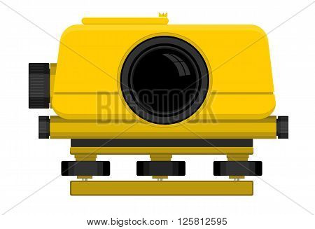 Vector illustration of digital level device on white background