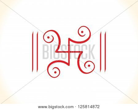 abstract detailed artistic red swastik vector illustration