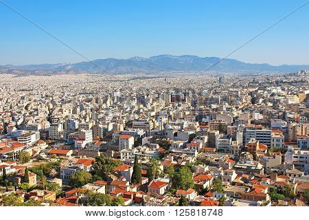Nice aeral view of Athens in Greece