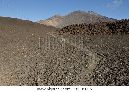 Pico Viejo And Mount Teide