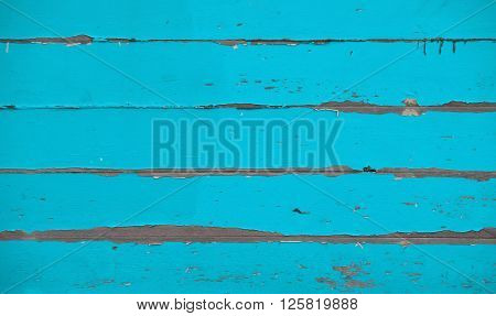 Teal Blue Vintage Painted Wooden Planks Panel