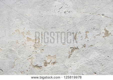 White Painted Old Dirty Wall With Defects