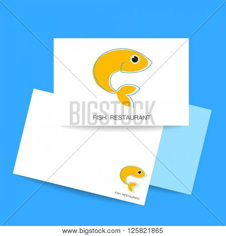 Seafood restaurant logo. Template for branding identity, fish restaurant, menu card, invitations, seafood restaurant, restaurant menu. Concept design. Vector illustration.
