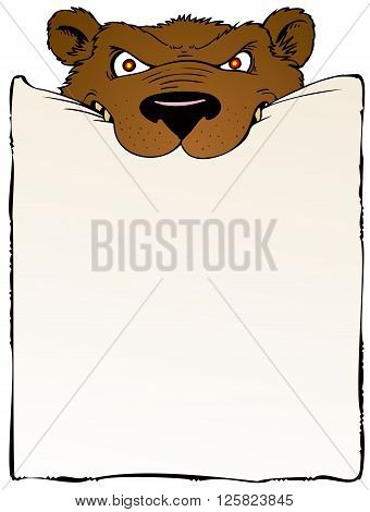 Bear bearing a message for you, and a sense of urgency