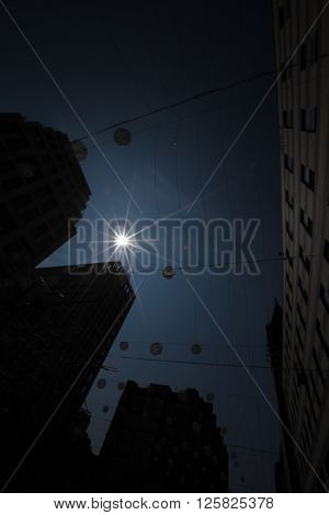 High-rise Buildings. Sun.