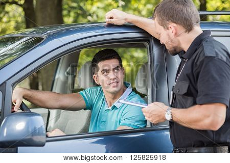 Talking With Experienced Policeman