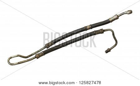 Power steering hose isolated on white background