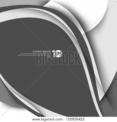 waving bent lines abstract eps10 vector design flat layout material background