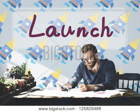 Launch Begin Introduce Start up Campaign Kick Off Concept