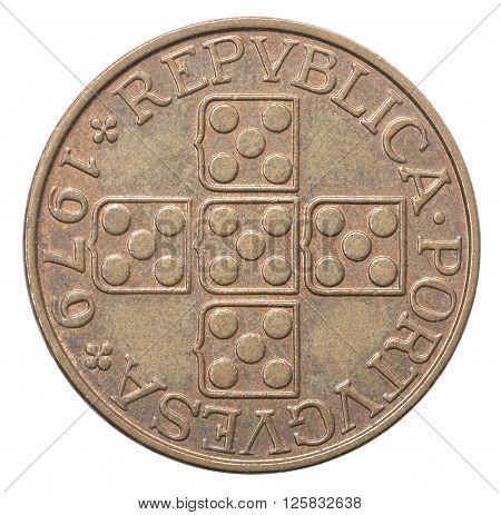 Old Portuguese Escudo Coin