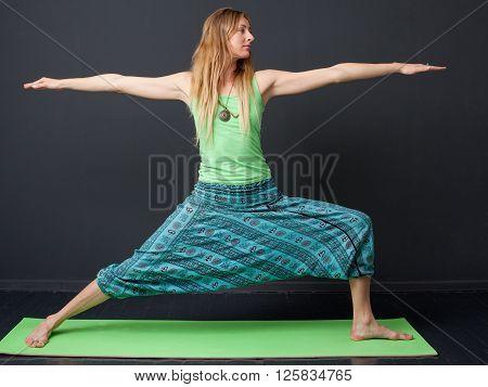 Yoga. Virabhadrasana (warrior Pose)