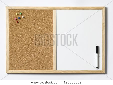 Cork Pin board with space for copy
