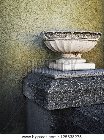 abstract background still life antique marble vessel for flowers ** Note: Soft Focus at 100%, best at smaller sizes