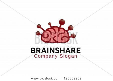 Brain Share Creative And Symbolic Logo Design Illustration