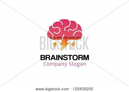 Brain Storm Creative And Symbolic Logo Design Illustration