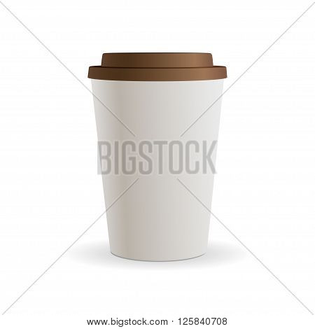 paper  coffee cup as illustration of coffee take out