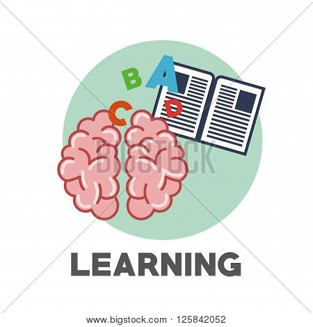 learning oncept with icon design, vector illustration 10 eps graphic.