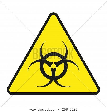 Vector Sign Toxic. Sign Toxic Isolated. Symbol Warning Toxic. Sign Nuclear. Radiation Sign