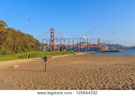 Early morning near the Golden Gate Bridge, San Francisco, CA, USA