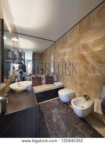 Interiors of new apartment , beautiful bathroom