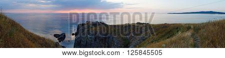 Morning sea coast summer panorama view (Bulgaria).