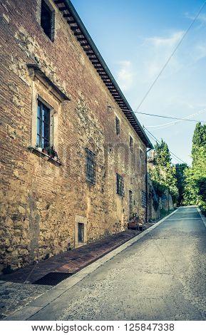 Montepulciano Street, Italy
