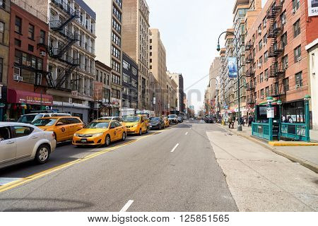 NEW YORK - CIRCA MARCH 2016: New York City at daytime. The City of New York, often called New York City or simply New York, is the most populous city in the United States