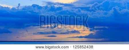 Storm sky before the storm, Kiev Sea, Ukraine